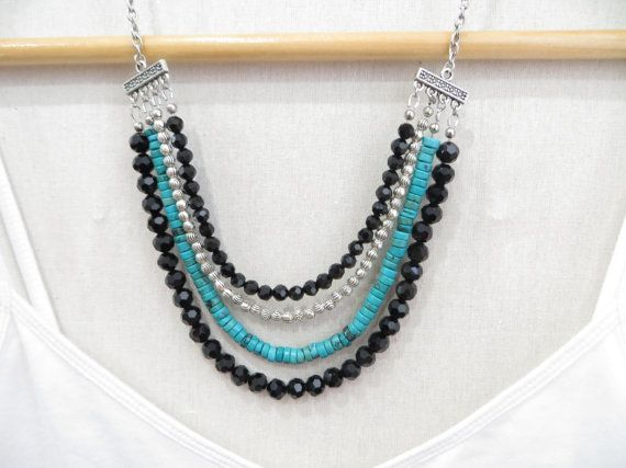 Hey, I found this really awesome Etsy listing at https://www.etsy.com/listing/183066746/catalina-multi-strand-statement-necklace