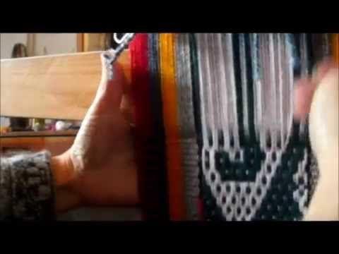 Ojo de guanaco, Ñe luan, Telar Mapuche Parte 1 - YouTube