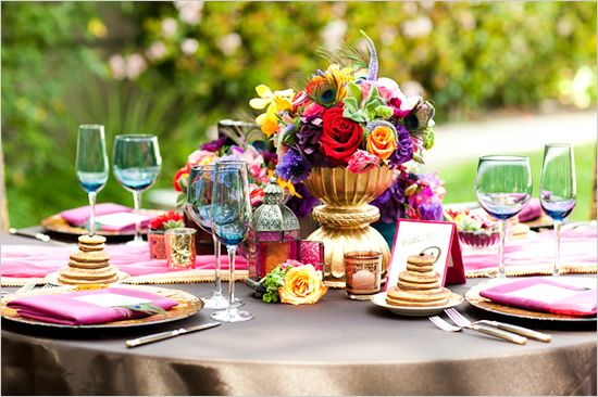table setting at an indian wedding