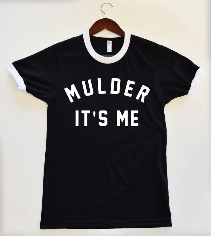 MULDER IT'S ME Black Ringer Shirt. X-Files Cool Funny Shirts. Dana Scully. Fox Mulder. X-Files Tumblr Shirts by MeowTangClan on Etsy