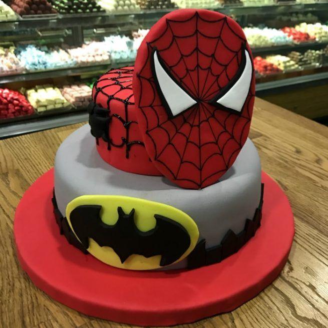Spider-Man Tasarım Pasta • 1 Dakikada Sipariş Ver! • Bulvar Pastanesi    #pasta #cake #butikpasta #spiderman #batman