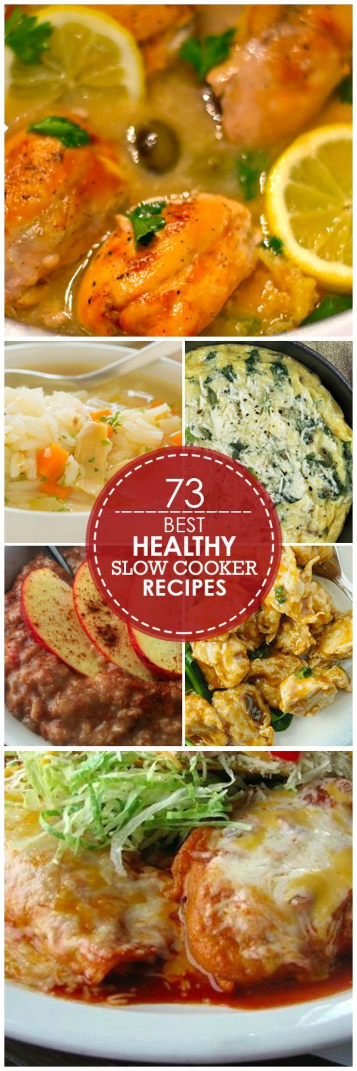 73 Healthy Slow Cooker Recipes // easy & keeps the kitchen cool #comfort