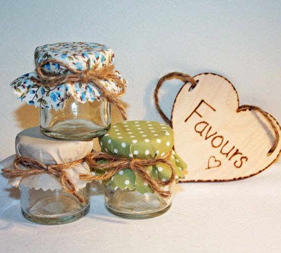 Country Style Mini Jam Jar Wedding Favours DIY by Melysweddings, £1.15