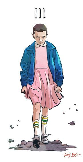 I also drew Eleven from Stranger Things tonight.