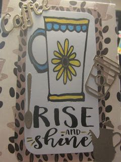 Handmade card byTink Time using the Rise and Shine digital set from Verve. #vervestamps