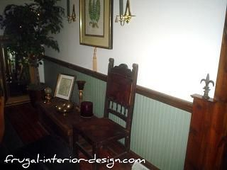 Painted wainscoting and stained trim master bedroom for Dining room vs office