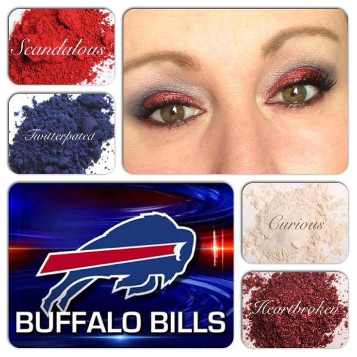 Buffalo BIlls! Use the Younique pigments to create your own Buffalo Bills game day look! www.youniqueproducts.com/SabrinaDrew Finish the look off with our 3D fiber lash mascara! #makeup #buffalobills #sports