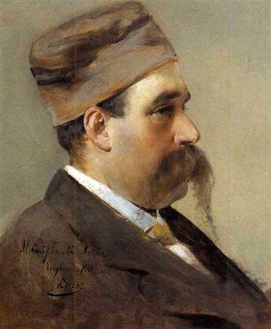 Vittorio Matteo Corcos (Italian, 1859–1933) Title:     Ritratto virile , 1881  Medium:     oil on canvas Size:     46 x 38 cm. (18.1 x 15 in.)