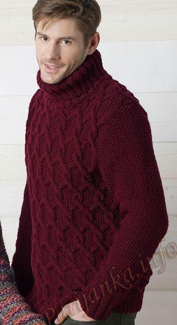 Мужской пуловер (м) 25*97 Phildar