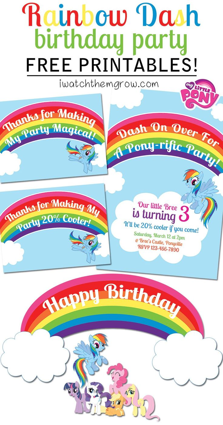 my little pony rainbow dash birthday party printables party printables my little pony and mlp. Black Bedroom Furniture Sets. Home Design Ideas