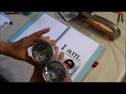 Red Smash Book Challenge 1 - All About Me Smashbook Page Tutorial
