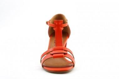 Michel Vivien sandals heel: Jasmin (oranje, leder) - THIRON