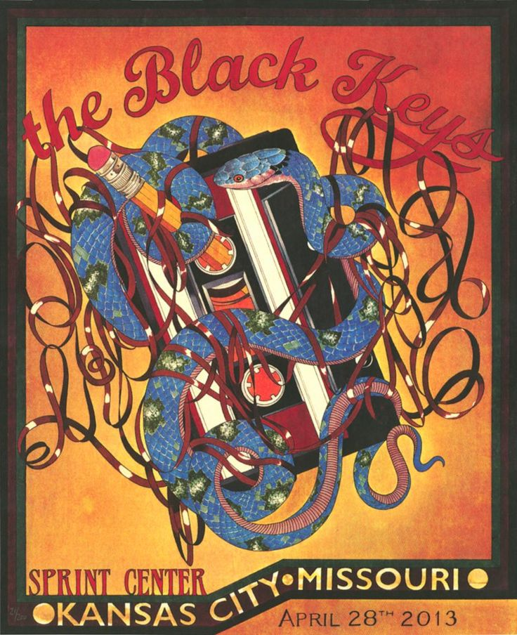 Can't wait for this show!!   The Black Keys by Whispering Danny of Exile Tattoo