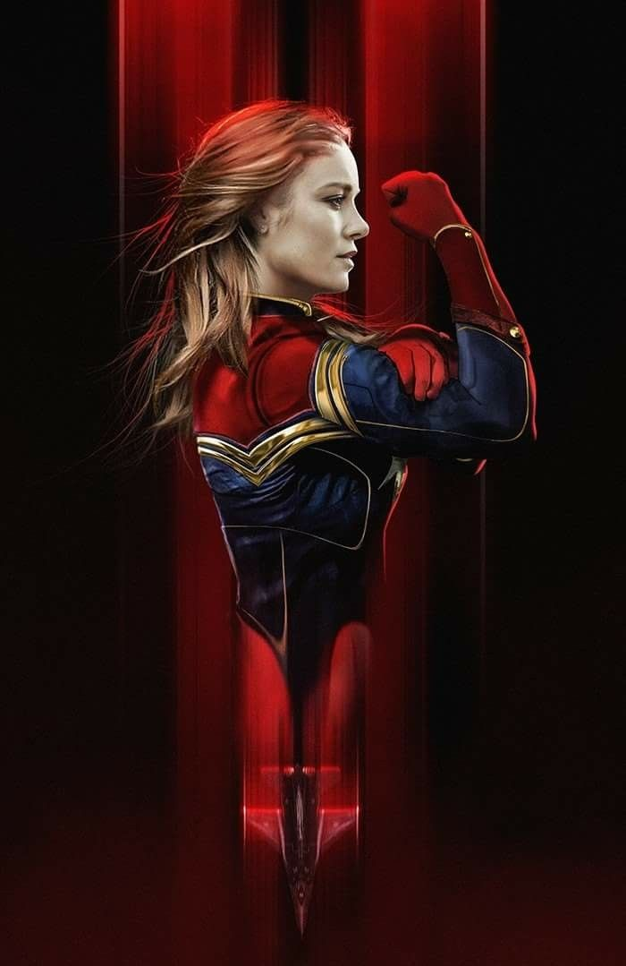 Brie Larson as Captain Marvel by BossLogic