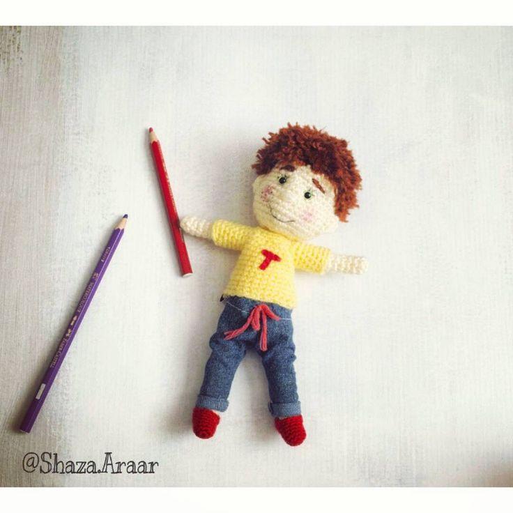 """77 Likes, 1 Comments - Shaza Araar (@shaza_ar) on Instagram: """"#elyapımı#oyuncak #elişi #orguoyuncak #amigurimi #amigurimibebek #hediye #elemeği #elyapimi…"""""""