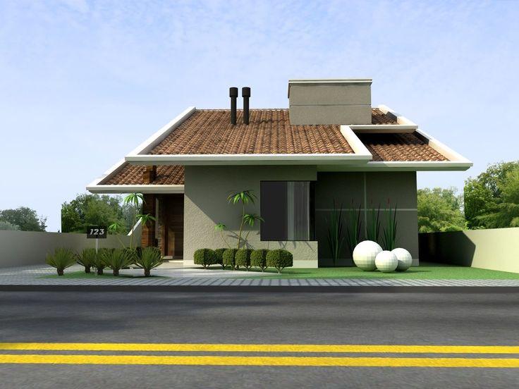 Explore 9 belíssimas fachadas de casas com telhado e inspire-se para escolher um modelo que seja compatível com suas necessidades.