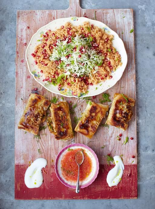 Crackin' crab briks with couscous salad & salsa Read more at http://www.jamieoliver.com/recipes/seafood-recipes/crackin-crab-briks-with-couscous-salad-salsa/#HsFafq2suWf1GpZ9.99
