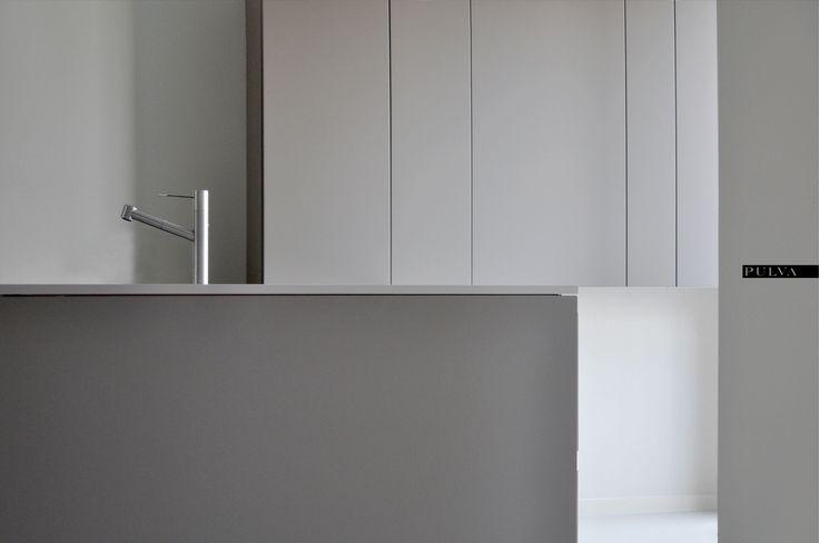 minimalistic interior design, kitchen, Binova