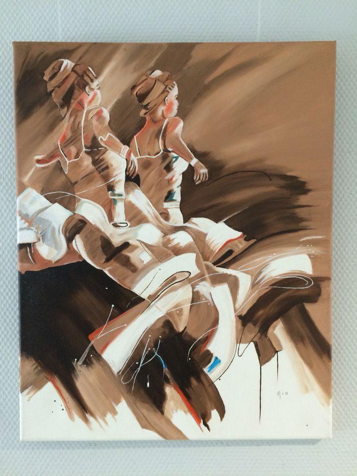 Nr 1 van 2 Luik aardse tinten by Ria Bos