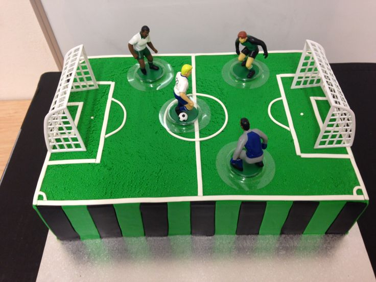 1000 Images About Soccer Field Cake Ideas On Pinterest