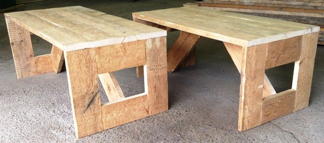 Office desk and dining table made from reclaimed timber