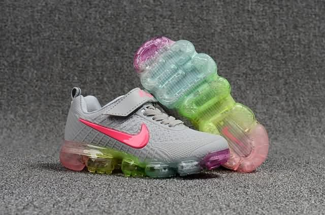 78a08c637274f Cheap Nike Air VaporMax 2018 KPU Kids shoes Grey Pink For Wholesale and  Discount Only Price  52 To Worldwide Free Shipping WhatsApp 8613328373859