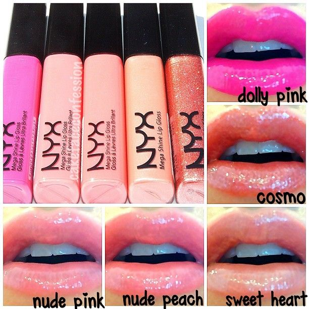 @NYX Cosmetics Megas Shine Lipgloss Theses are amazingly creamy and perfect. Unless #MAC comes out with a color I can't live without I'm not buying it anymore. These are now my go to glosses, lipstick and lipliner. Seriously the best shit ever! No bullshit. #nyxcosmetics - @cakefaceconfession-