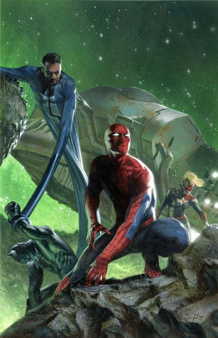 Mr. Fantastic and Spider Man