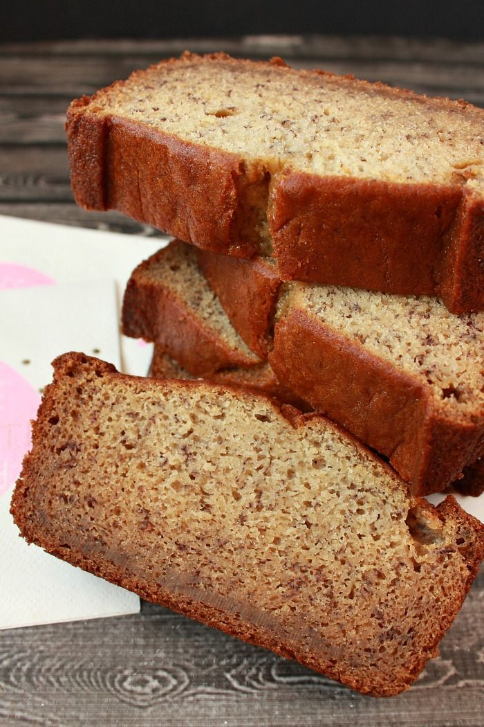 This easy banana bread recipe is my son'ss favorite. It freezes well so I always make two loaves because they don't last very long in our house.