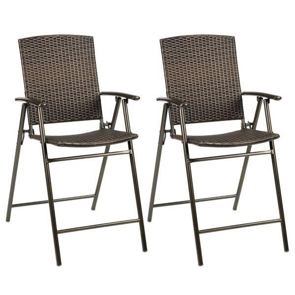 Stratford Wicker Folding Balcony Chair (Set Of 2)