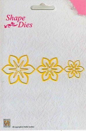 """Нож для вырубки """"Цветы - 1"""", 6 шт ― HOBBYBOOM"""