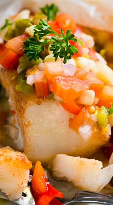 Oven Baked Alaskan Cod with Roasted Vegetables
