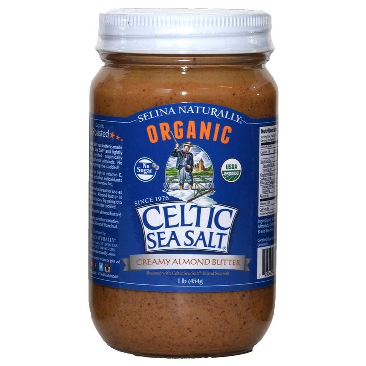 Creamy Almond Butter - All natural smooth nut butter spread made with Celtic Sea Salt ® & roasted almonds - Organic almond nut butters are a healthy alternative to peanut butter.