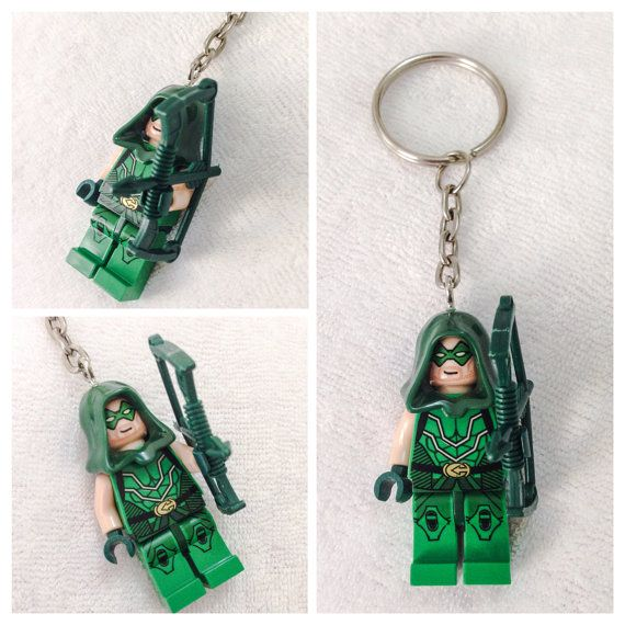 Lego BOGO Buy 1 Get 1 Promo! Lego® The Green Arrow Keychain, DC Comics Superhero Keychain, FREE Lego® Minifigure Keychain Party Favors Gift on Etsy, $12.00