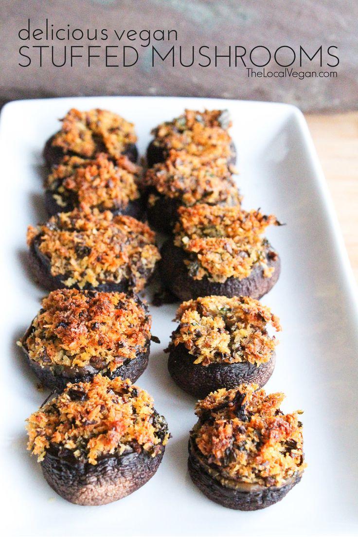 Delicious Stuffed Mushrooms - The Local Vegan // www.thelocalvegan.com