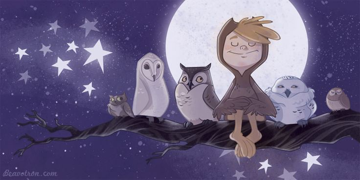 """""""My best friends are the wise owls in my life."""" ~KB    Owl Boy 2 by beavotron.deviantart.com"""