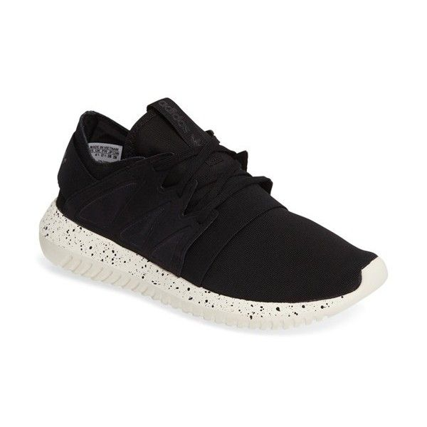 Women's Adidas Tubular Viral Sneaker ($100) ❤ liked on Polyvore featuring shoes, sneakers, strap shoes, elastic shoes, adidas shoes, adidas sneakers and adidas trainers