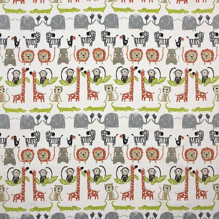 Warwick Fabrics : SNAPPY, Colour ORANGE