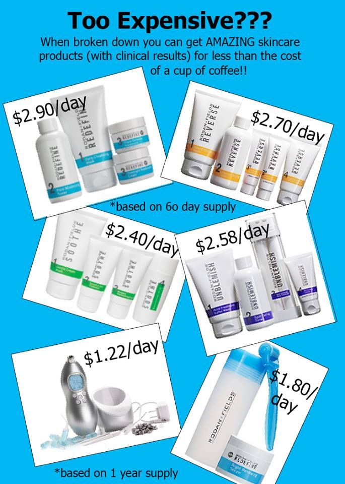 Do you think Rodan and Fields is too expensive? Skin care is worth every penny! http://amberrussell.myrandf.com