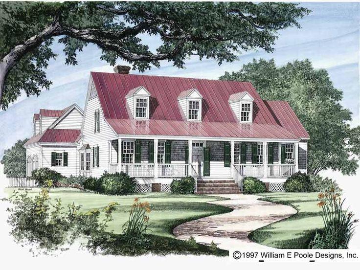 Cane river cottage house plans for River house plans