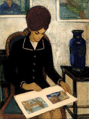 Czene, Béla (1911-1999) Olvasó lány, 1967