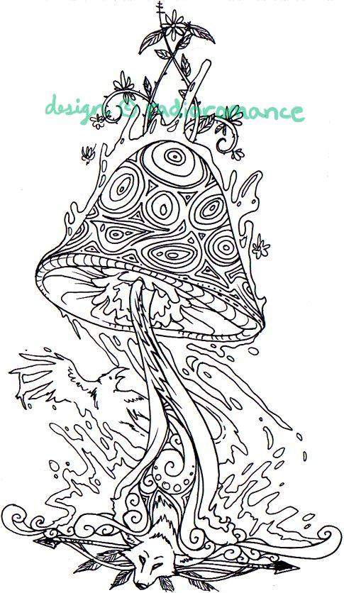 Trippy Designs Shrooms Pin trippy mushroom art magic people by on ...