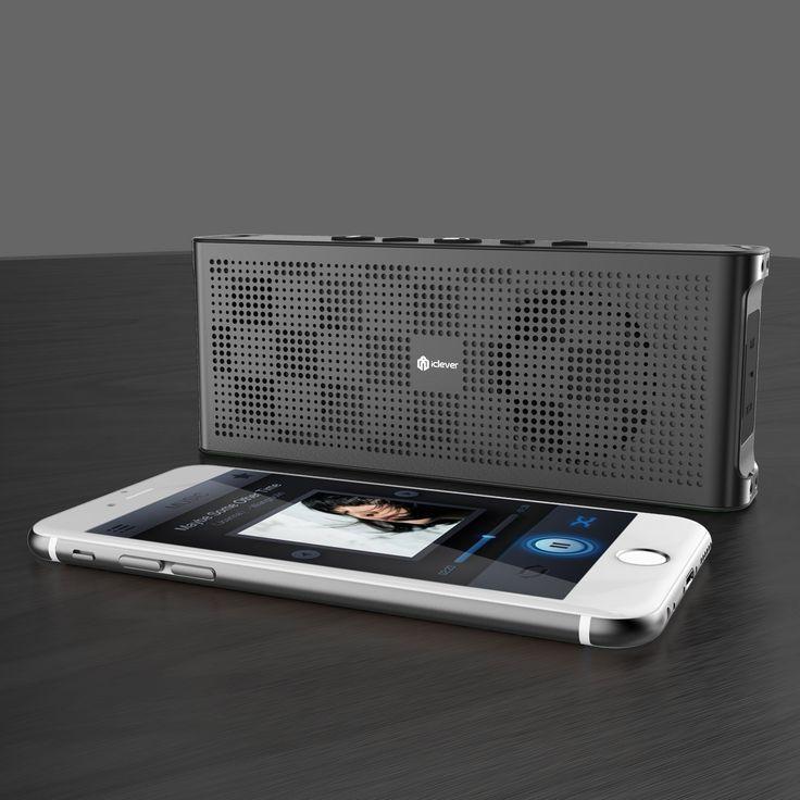 iClever Bluetooth スピーカー 薄型 防水 ポータブル ワイヤレスステレオスピーカー デュアル…
