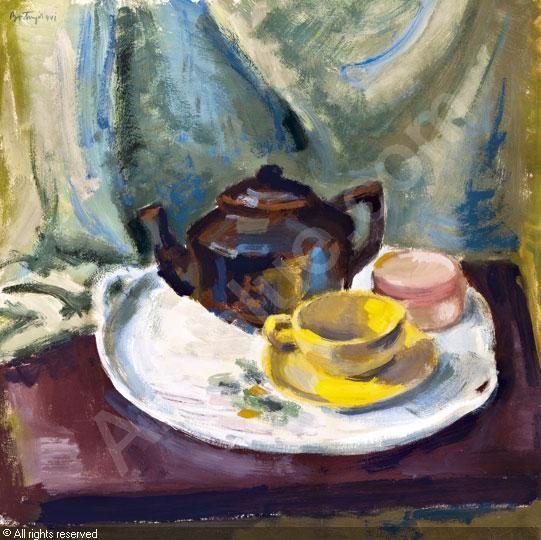 BORTNYIK Sándor Alexander, 1893-1976 (Hungary)  Asztali csendélet kannával és csészével,1941