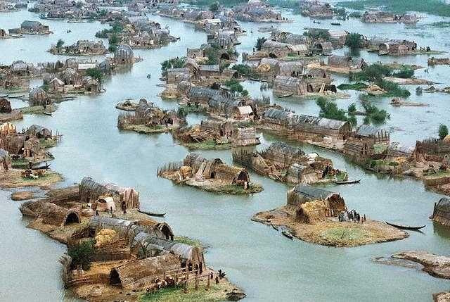 Marsh Arab village.