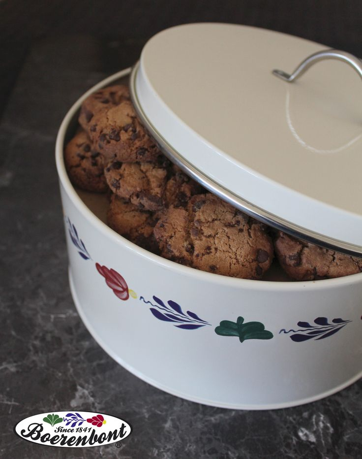 Ideaal om je homemade koekjes in te bewaren, de koektrommel van Boerenbont!