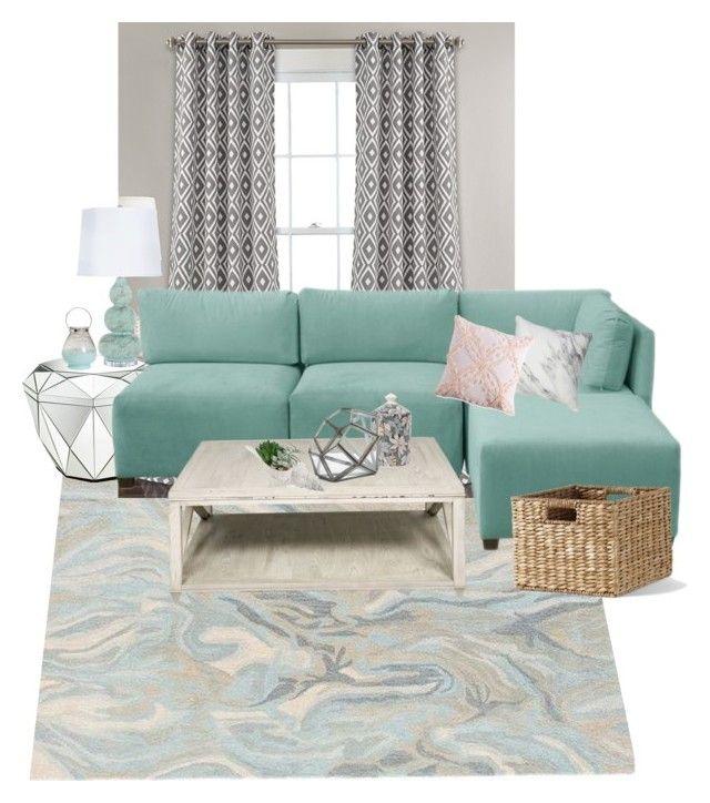 """Comfy"" by cms-teacher on Polyvore featuring interior, interiors, interior design, home, home decor, interior decorating, Ballard Designs, Lush Décor, Amara and Pottery Barn"