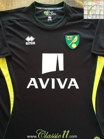 Relive Norwich City's 2012/2013 season with this original Errea away football shirt.