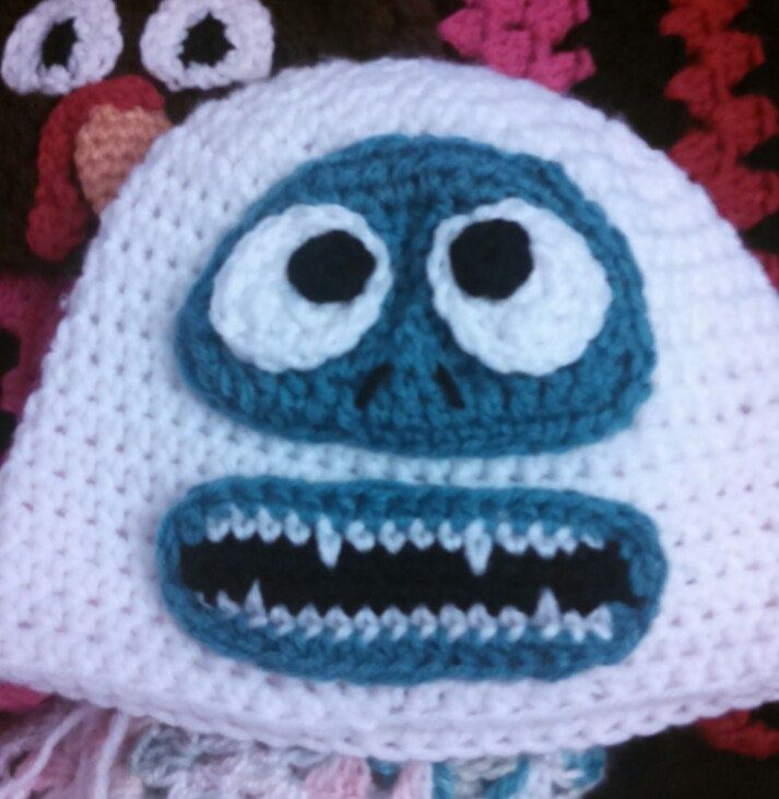 For me for ICE Bumble the Abominable Snowman Hat by KelsCritterCaps on Etsy