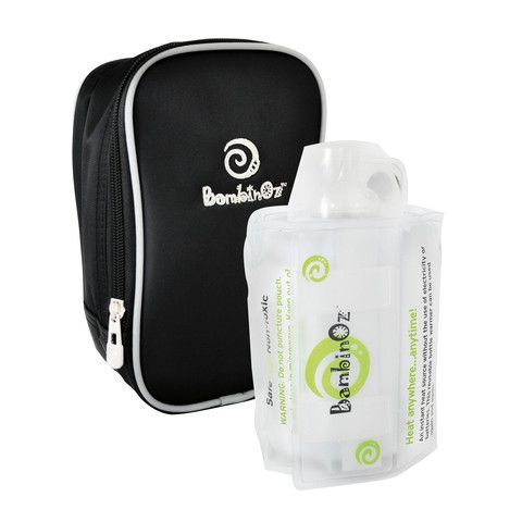 Bambinoz Instant Heat Bottle Warmer Single. Warm bottles on the go. Suitable for breast milk, formula or other milk product.